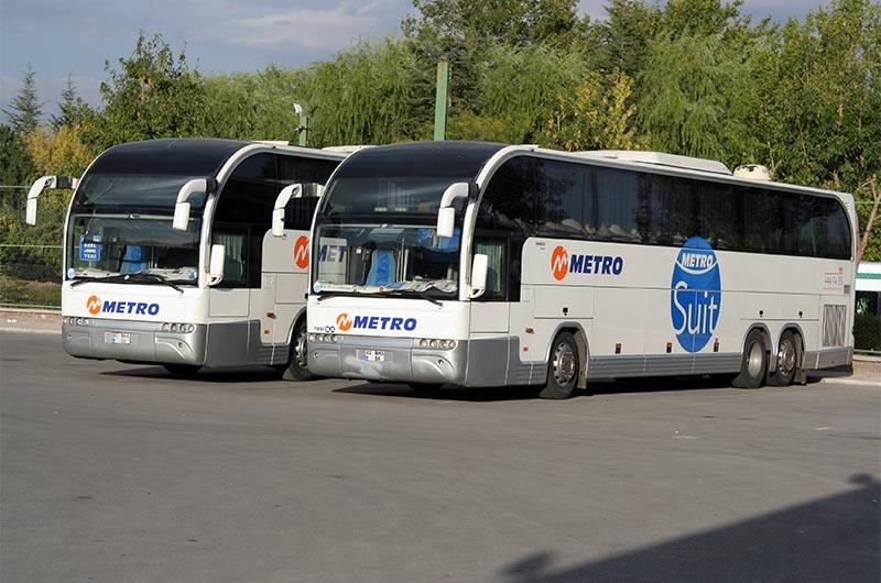 Междугородние турецкие автобусы компании Metro