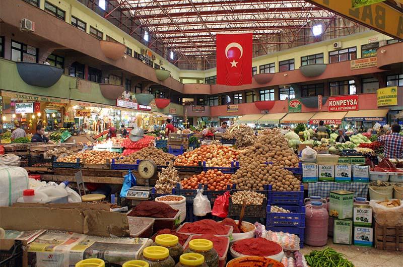 Рынок в городе Кония
