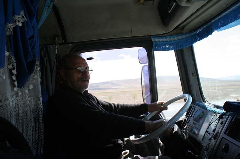 Водитель - турок. Едем в Конию.