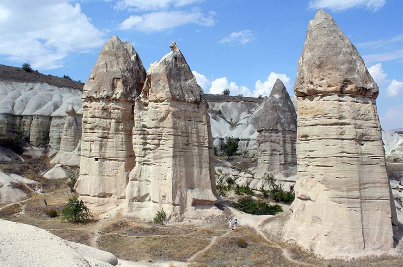 Пальцеобразные скалы долины Гёркюндере.