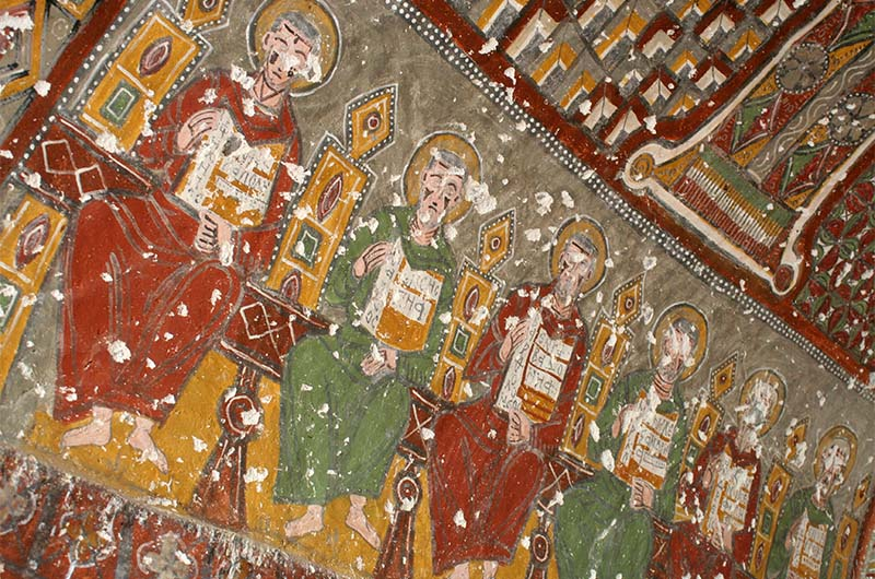 Фрески в скальной церкви Йыланлы (Змеиная церковь).