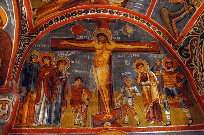 Фрески в Темной церкви.