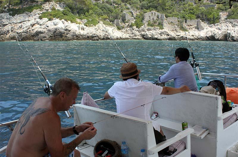 Морская рыбалка в Олюденизе.