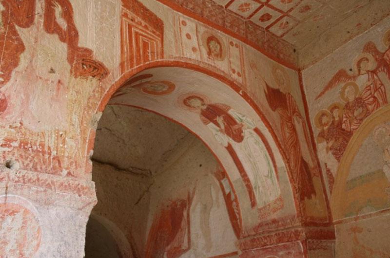 Фрески в Скрытой церкви (Saklı Kilise).