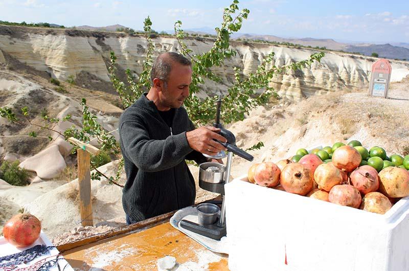 Продавец свежевыжатого сока в Медовой долине - хороший ориентир для тех, кто ищет вход со стороны Учхисара.