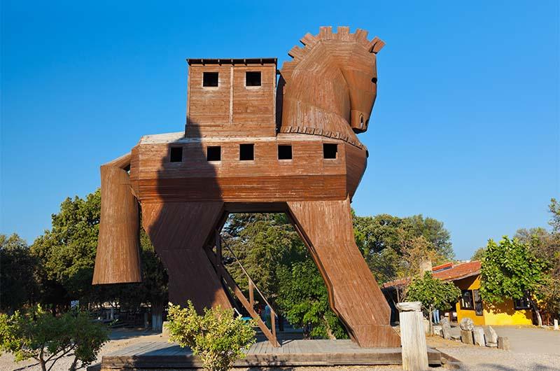 Троянский конь в Трое.