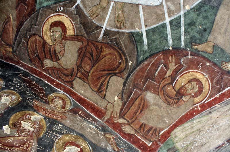 Фрески в скальной церкви в долине Ихлара.