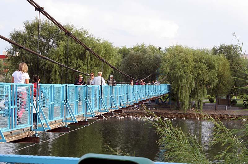 Подвесной мост через реку Кызылырмак.