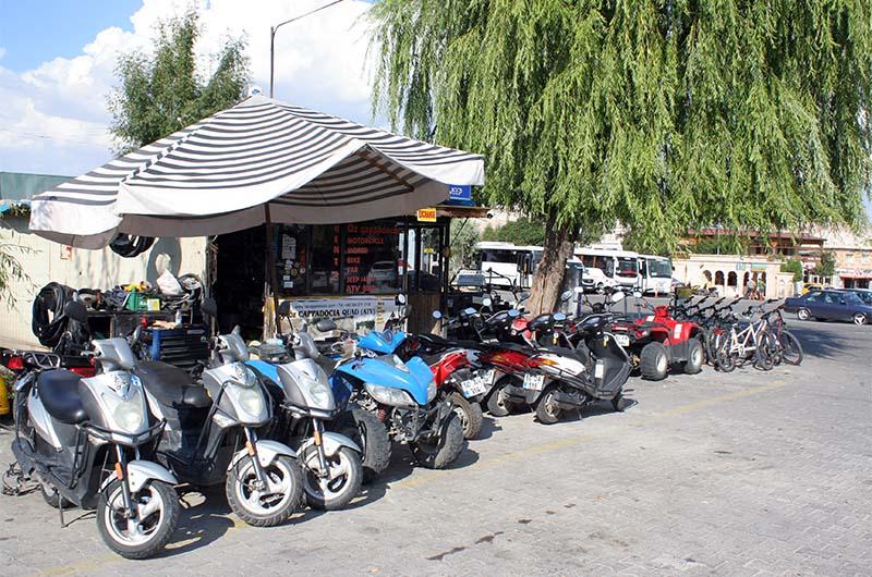 Контора по аренде скутеров около автовокзала.