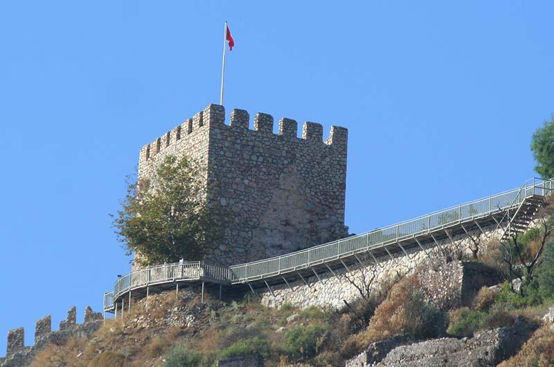 Смотровая площадка под крепостной башней.