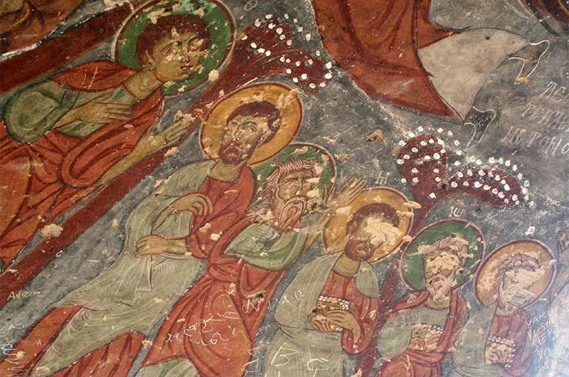 Фрески в одной из церквей долины Ихлара.