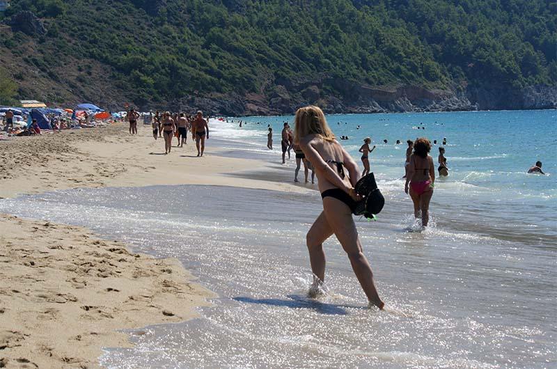 Вид на пляж Клеопатры.
