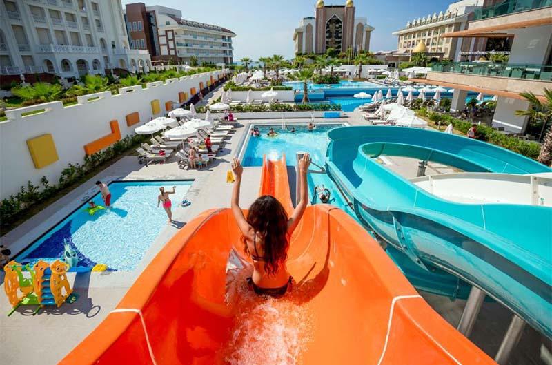 Аквапарк в отеле Side Sungate Hotel в Сиде.