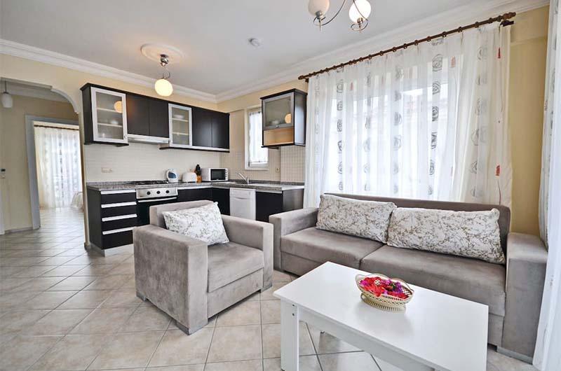 Квартира в Фетхие, которую можно забронировать через интернет на сайте Airbnb как альтернативный вариант отелю.