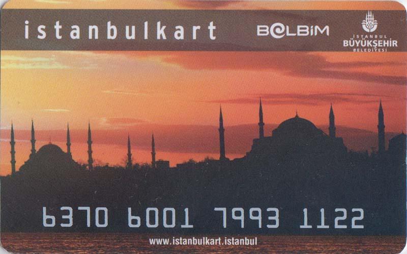 Транспортная карта для оплаты проезда почти во всех видах транспорта в Стамбуле.