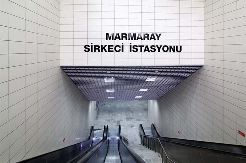 Станция  линии Мармарай.