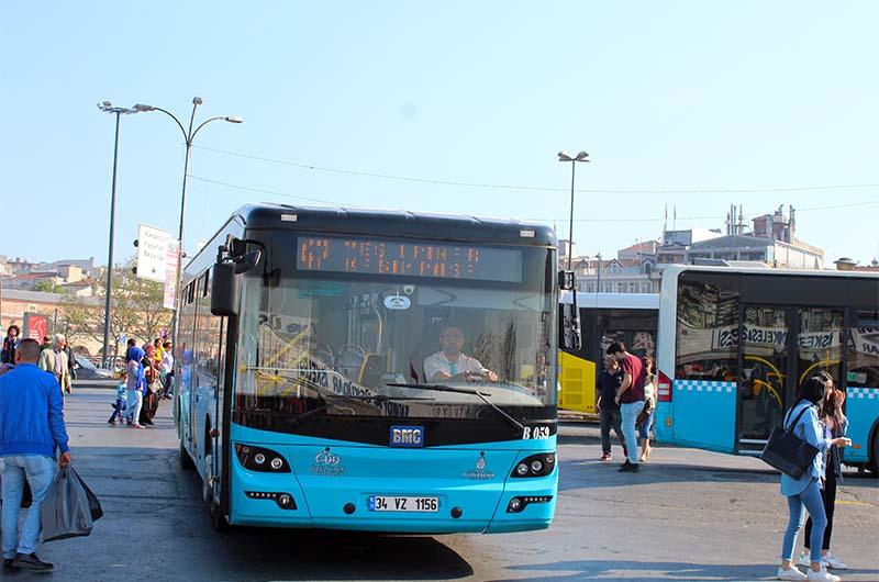 Вот так выглядят стамбульские городские автобусы.